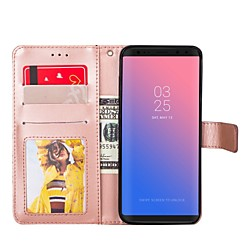 Phone Case For Samsung Full Body Case S8 Plus S8 S7 edge S7 S6 edge S6 S5 Wallet Card Holder with Stand Solid Colored Hard PU Leather miniinthebox