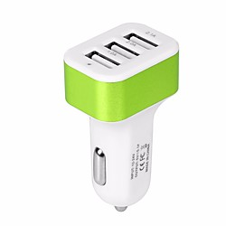 'Car Charger Usb Car Adapter Phone Chargers With 12v-24v Input Fast Charging Intelligent Power 5v/5.1a 3 Port Car Charger Compatible With Iphone, Ipad, Samsung, Huawei And More Miniinthebox