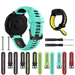 'Watch Band For Forerunner 735 / Forerunner 630 / Forerunner 620 Garmin Sport Band / Classic Buckle / Diy Tools Silicone Wrist Strap Miniinthebox