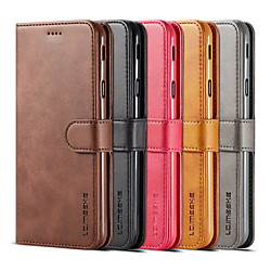 lc.imeeke Leather Wallet Case For Samsung Galaxy S21 S20 Ultra S10 Plus Flip Cover Fashion Unisex Business Leather Phone Protective Case S9 S10 S10e S10plus Note9 Note8 S8 S8 Plus S7 S7 Edge S6 Edge miniinthebox
