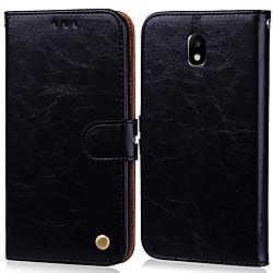 Phone Case For Samsung Galaxy J3 (2017) Card Holder Flip Full Body Cases Hard leather for J3 (2017) miniinthebox