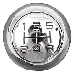 Mini In The Box 5-traps verchroomde versnellingspookknop voor peugeot 106 206 207 306 307 407 408 508 miniinthebox