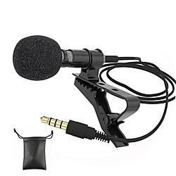 Image of Microfoni audio Presa jack da 3,5 mm Microfono esterno mini microfono cablato lavalier a clip per telefono cellulare