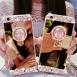 Case For Samsung Galaxy Note 9 / Note 8 / Note 5/Note10PRO/Note10 Rhinestone / Ring Holder / Mirror Back Cover Solid Colored Acrylic miniinthebox