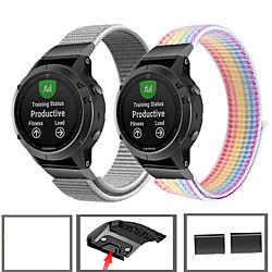 'Sport Nylon Watch Band Wrist Strap For Garmin Fenix 6 Pro / Fenix 5 Plus / Forerunner 935 / Approach S60 / Quatix 5 Quick Release Wristband Miniinthebox