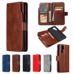 Phone Case For Huawei Full Body Case Wallet Card Huawei P20 Huawei P20 Pro Huawei P20 lite Huawei P30 Huawei P30 Pro P10 Lite P10 Huawei P9 Lite Huawei P9 Huawei P8 Lite Wallet Card Holder Flip Solid miniinthebox