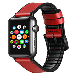 Smart Watch Band for Apple iWatch 1 pcs Classic Buckle Business Band Silicone Genuine Leather Replacement  Wrist Strap for Apple Watch  6 / SE / 5/4/3/2/1 38mm 40mm 42mm 44mm miniinthebox