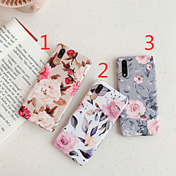 Phone Case For Huawei Back Cover Huawei P20 Huawei P20 Pro Huawei P20 lite Huawei P30 Huawei P30 Pro Huawei P30 Lite IMD Frosted Pattern Flower TPU miniinthebox