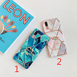 Phone Case For Huawei Back Cover Huawei P20 Huawei P20 Pro Huawei P20 lite Huawei P30 Huawei P30 Pro Huawei P30 Lite Plating Ring Holder IMD Marble TPU miniinthebox