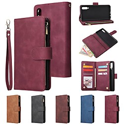 Case For Samsung Galaxy A20S / A20E / A10S Wallet / Card Holder / Shockproof Multi-Function Pocket PU Leather for Samsung Galaxy A10 / A20 / A30 / A40 / A50 / A70 miniinthebox