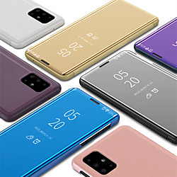 Case For Samsung Galaxy A91/ A81 / A71 / A51 Luxury Smart Clear View Mirror Flip Stand Phone Case for Samsung Galaxy A90 / A80 / A70S / A70 / A60 / A50 / A50S / A40 / A40S miniinthebox