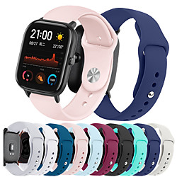 Smart Watch Band for Amazfit 1 pcs Sport Band Silicone Replacement  Wrist Strap for Amazfit GTS 20mm miniinthebox