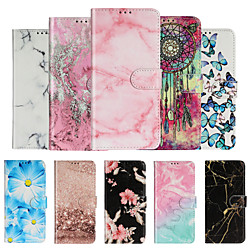 Case For Samsung Scene Map Samsung Galaxy S20 S20 Plus S20 Ultra Note 20 Note 20 Pro Marble Pattern PU Leather Card Holder Full Covered Phone Case miniinthebox