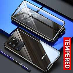 Magnetic Case for Samsung Galaxy S21 Plus S21 Ultra Clear 360 Protection Double sided Glass Metal Magnet Adsorption Protective Case for Samsung Galaxy S20Ultra S20Plus Note 20 Ultra A91 A71 A51 miniinthebox