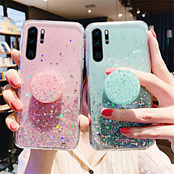 Glitter Shine Phone Case For Samsung Galaxy S21 Plus S21 Ultra S20 A52 A72 Soft Silicone Back Cover With Phone Holder For Samsung Galaxy A51 A71 A81 A91 Note 10 Plus miniinthebox
