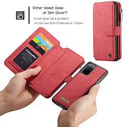 CaseMe Luxury Leather Magnetic Flip Phone Case For Samsung Galaxy A52 A72 S21 S20 Plus S20 Ultra Note 20 10 Plus S10 Plus S9 Plus S8 Plus S10 S9 S8 Wallet Card Slot Stand Detachable Cover miniinthebox