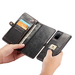 CaseMe 2-in-1 Luxury Business Magnetic Flip Leather Case For Samsung Galaxy S20 / S20 Plus / S20 Ultra With Wrist Strap Wallet Card Slot Stand Detachable Phone Case miniinthebox