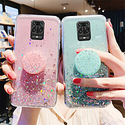 Glitter Bling Case For Xiaomi Redmi Note 9 / 9s / 9Pro / 9Pro Max / 8T / 8Pro / 8Pro / 7 / 7S / 7Pro  / 6A / K30 Pro / K20 Case For Xiaomi Mi 10 / 10Pro / CC9Pro / F1 / 9se / 8Lite Stand Holder Cover miniinthebox