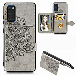 Mandala Embossed Magnetic Case for Samsung Galaxy S21 Plus S21 Ultra PU Leather Wallet Case Multifunction Card Holder Protective Case for Samsung Galaxy S20 Ultra S20 Plus A51 A71 A91 A70 A50 A40 miniinthebox