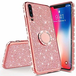 Diamond 360 Degree Rotating Ring Holder Plating Soft TPU Glitter Bling Case For Xiaomi Redmi Note 8 Pro Note 8T Note 7 K30 K20 Pro Redmi 8A Mi Note 10 Pro Mi 9T Mi 9 SE Mi CC9 Pro CC9e Shining Case miniinthebox
