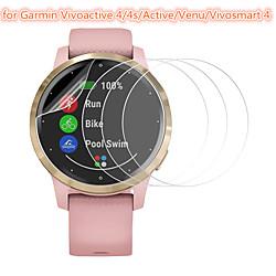 3 Pcs Smartwatch Screen Protector for Garmin Vivoactive 4/4s/Active/Venu/Vivosmart 4 Tempered Glass Transparent High Definition (HD) Scratch Proof/9H Hardness miniinthebox