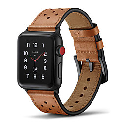 Smart Watch Band for Apple iWatch 1 pcs Leather Loop Genuine Leather Replacement  Wrist Strap for Apple Watch Series 5 Apple Watch Series 4 Apple Watch Series SE / 6/5/4/3/2/1 Apple Watch Series 3 miniinthebox