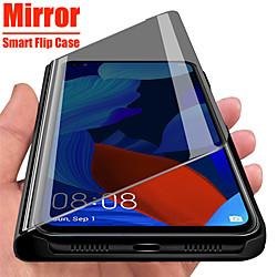 Mirror View Smart Flip Case For Samsung Galaxy A51 A71 A91 A81 A41 A31 A21 A11 A01 A70e A20e A10e Note 10 Lite A90 5G A80 A70 A60 A50 A40 A30 A20 A10 A9 A7 2018 A6 A8 Plus 2018 Protection Cover miniinthebox