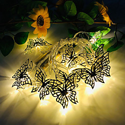 3M 20LED New Butterfly LED String Lights Three 5th Battery-Powered Wedding Party Holiday Birthday Party Christmas Living Room Bedroom Decoration Light String Without Battery miniinthebox