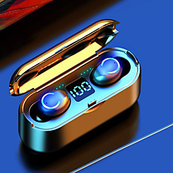 'F9-8u Tws Wireless Earbuds Bluetooth V5.0 Earphones Sports Waterproof Wireless Earphone Headset
