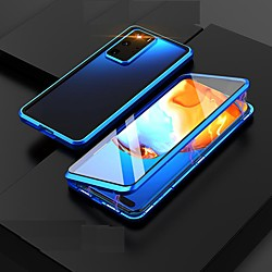 Magnetic Case For Samsung Galaxy S21 Plus/S21 Ultra/S21 360-degree Double Sided Metal Tempered Glass Cases Camera Lens Protective Case for Samsung Galaxy M31 S20 Ultra Note 20 miniinthebox