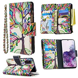 Phone Case For Samsung Galaxy S20 Ultra S10E S9 Plus Wallet Card Holder with Stand Full Body Cases Tree leather For Galaxy A10E A20E A10 A20 A30 A40 A50 A70 miniinthebox