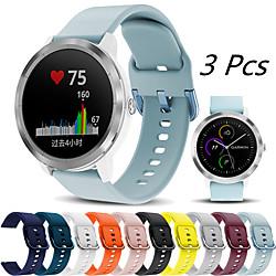'3 Pcs Sport Silicone Watch Band For Garmin Vivoactive 4 / Venu / Vivomove Hr / Forerunner 245 Music / 645 Music / Vivoactive 3 / Approach S40 / Fenix Chronos Bracelet Wrist Strap Wristband Miniinthebox