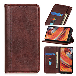 Case For Xiaomi Mi 10 Lite 10 Youth Note 10 Lite Redmi Note 9 Pro 9 Pro Max 9S 9 K30 Pro K30 Pro Zoom Poco F2 Pro 10X 10X Pro Flip Magnetic Full Body Cases Solid Colored PU Leather miniinthebox