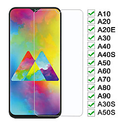 2PCS HD Phone Screen protector Glass For Samsung Galaxy A10 A20 A30 A40 A50 A60 Screen Protector A70 A80 A90 A10E A10S A20E A20S M20 M30 M30S A30S A40S A50S Tempered Glass Film miniinthebox