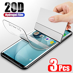 3PCS Hydrogel Film For Samsung Galaxy S21 plus S21 5G  S21 Ultra S20 S20 Plus Screen Protector For Samsung Galaxy S10 S9 S10 lite S7 Edge Film Not Glas miniinthebox