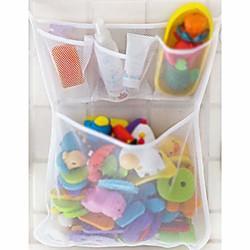 'Bath Toy Organizer,bathtub Toy Bags Baby Toys Mesh Storage Bag Bathroom Net Holder (white)
