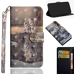 Case For Xiaomi Redmi Note 9 Redmi Note 8 Redmi Note 9 Pro Wallet Card Holder with Stand Full Body Cases Cat Tiger PU Leather TPU for Mi 10 Mi 10 Lite Redmi Note 8 Pro Redmi 9 miniinthebox