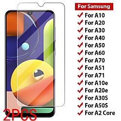 2PCS SAMSUNG Screen Protector Galaxy A71 5G / A51 4G / A90 / A80 / A70S / A10 / A20E / A30 / A40 / A50 / A60 / A01 / A11 /  A41 High Definition (HD) Front Screen Protector Tempered Glass miniinthebox