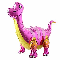 '3d Dinosaur Balloons Foil Standing Green Dinosaur Tanystropheus Dragon Wedding Baby Shower Birthday Party Decoration Supplies Boy Kids Toys Gift (pink)