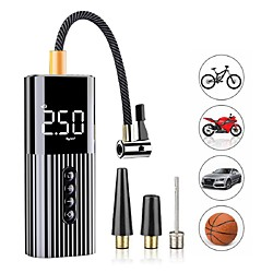 New Inflatable Pump Mini Portable Air Compressor with LED Lighting Tyre Inflator 12V 60W Wire Air Pump for Car Bicycle balls miniinthebox