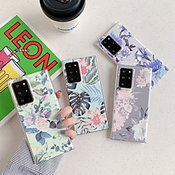 Phone Case For Samsung Galaxy Back Cover S20 Plus S20 Ultra S20 S9 S9 Plus S8 Plus S8 Note 9 Note 8 Note 20 Ultra Pattern Flower / Floral TPU miniinthebox