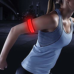 Image of (tm) braccialetto led slap, braccialetto bagliore, braccialetto led, bracciale, interruttore on off, batteria sostituibile, per bambini, ciclisti, corridori, alta visibilità, resistente all'acqua.