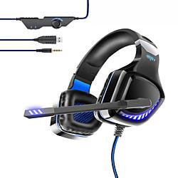 Image of ovleng gt97 cuffie da gioco cablate e-sport con microfono auricolare stereo circondato da microfono per pc portatile ps4 di alta qualità