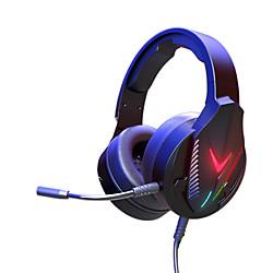 Image of litbest h600 cuffie over-ear cuffie usb da 3,5 mm microfono da 3,5 mm con microfono con controllo del volume controllo in linea resistente al sudore per i giochi