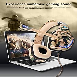 Image of ovleng gt98 cuffie da gioco cablate e-sport con microfono auricolare stereo virtuale circondato da microfono per pc portatile ps4