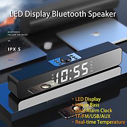 Image of led tv sound bar sveglia altoparlante bluetooth wireless cablato home theater surround subwoofer aux usb per pc tv altoparlante del computer