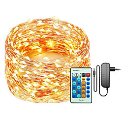 'Led String 50m-500 30m-300 20m-200 10m-100 Leds Copper Wire Christmas String Lights Dimmable With Remote Control Decute Fairy Starry Lights  For Party Wedding Bedroom Christmas Tree
