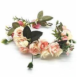 Maison et jardin Rétro Vintage Mariage Tissu Casque avec Fleur 1 pièce Mariage / Anniversaire Casque