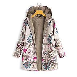Women's Coat Casual / Daily Autumn / Fall Cotton Coat Tops A miniinthebox