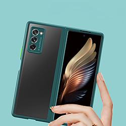 Phone Case For Samsung Galaxy Back Cover Galaxy Z Fold 2 Transparent Translucent Transparent TPU miniinthebox